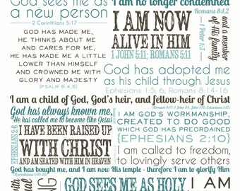 Identity in Christ Scripture digital file - multiple colors available