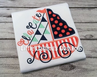 Preppy Girls Sailboat Shirt