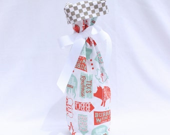 Wine Gift Bag - Ribs and Bibs Cookout By Maude Asbury for Blend