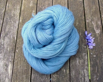 Semi-Solid Hand Dyed Sock Yarn, Singles Sock Yarn, light fingering weight yarn, Falkland Merino yarn, 100g