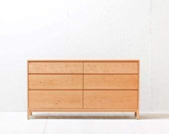 Solid Cherry Berkeley Dresser - Six Drawers