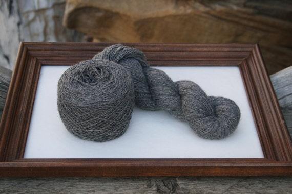 Royal Baby Alpaca Yarn Sock Weight Metallic Gray 100 gram skein