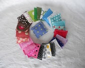 SALE! Nail Wrap Accessories-Lots of Dots Introductory Price-Set of 20 Mixed Polka Dot Nail Bags -20 -(2x2) Rice Bags - Ready to Ship