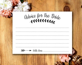 Advice for the Bride - Bridal Shower Game *Printable*