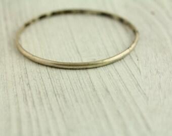 Vintage Orb Modernist Sterling Silver Oval Bangle Bracelet Mid Century Modern(ET541 )