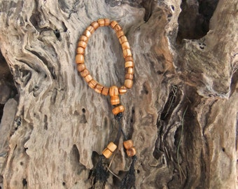 27 Mala Beads, Buddhist prayer beads, meditation mala, hand crafted from organic olive wood