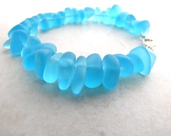 Seaglass Sea Glass Bracelet Aqua Turquoise BellinaCreations Bellina Creation TSM8