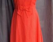 1960s Miss ELLIOT Polka Dot Full Length Ruffle Party Dress