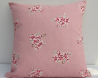 Pink Pillow Cover, Cushion Cover, Pillow Cover Pink  floral Cushion Cover,  shabby cottage chic,  Pillow Sham,  Cover Various Size Options