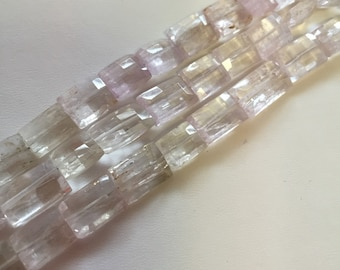 Kunzite Faceted Flat Square Beads-12x8mm