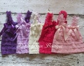 Girls Lace Petti Top, Ruffle Top, 1st Birthday Girl Outfit, Girls Birthday Shirt, Pink Purple Ivory Lavender, Petti Lace Top, Photo Prop