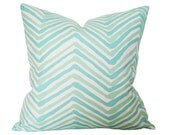 Zig Zag Aqua Light Turquoise (Single-Sided) - Made-to-Order