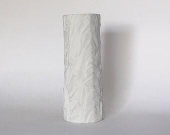 "Modernist White Bisque Porcelain Op Art  ""Rock"" Vase - Schumann Arzberg 60s"