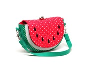 Cool soothing red watermelon party clutch