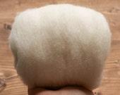 Warm White Needle Felting Wool, Wool Batting, Batts, Fleece, Wet Felting, Spinning, Natural White, Ecru, Ivory, Fiber Art Supplies