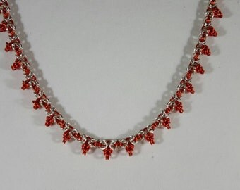 Fiery Flare Byzantine Necklace