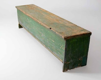 FREE SHIP  antique primitive storage bench