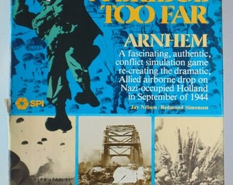 A BRIDGE Too FAR Simulations Productions 1976 Board Game Unused Unpunched