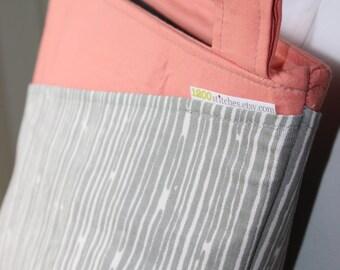 Gray Woodgrain Cross Body Hipster Bag