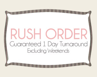 RUSH ORDER for custom listings - Guaranteed 1 Day turn around time for proof - Excludes Weekends and Holidays