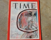 Collectible Time Magazine April 21, 1958 Actor Alec Guiness Cover Good - Very Good Condition Great Ads