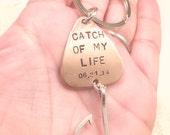 Fishing Keychain, Fathers Day Gifts, For Him, Boyfriend Gift, Personalized Fishing Lure, Hand Stamped Fishing Lure,natashaaloha