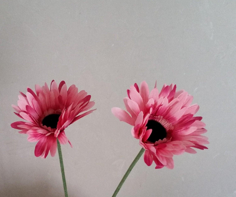 Make Silk Wedding Flowers: Make Your Own Bridal Bouquet Silk Flower Supply Pink Gerbera