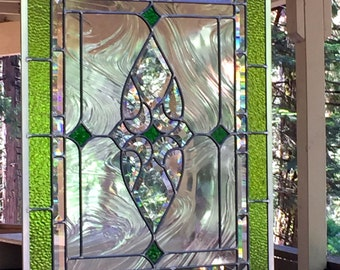 Beveled Cluster Stained Glass Window