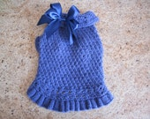 Dog Sweater Blue   By Nina's Couture Closet