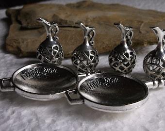 10 Silver Pendants/Charms