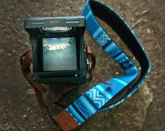 iMo Geometric Blue strap suits for DSLR / SLR with quick release buckles