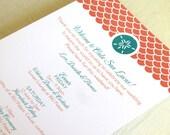 Sand Dollar Beach Wedding Itinerary Card - Welcome Bag Card - Destination Events Card - Custom Colors