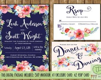 Floral Wedding Invitation • Printable