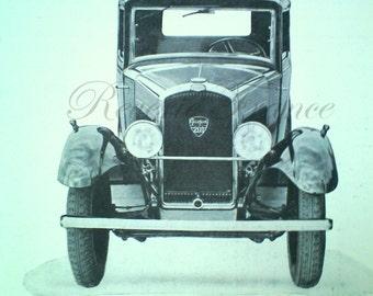Art Deco Vintage French Ad Peugeot Automobile 1931