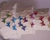 "28   1"" edible butterflies for cake decorating, cookies, cupcake decorating, cake pops. Wafer paper butterflies, wedding cake toppers."
