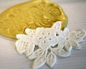 Floral lace mold for cake decorating, chocolate mold, polymer clay mold, resin, silicone lace mold, silicone mould, cake lace mold M1005