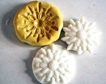 Silicone Mold for fondant medallions- cake or cupcake decorating, chocolate, hard candy, polymer clay, soap, silicone mould M1008
