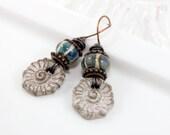 Relaxed Denim Artisan Earrings