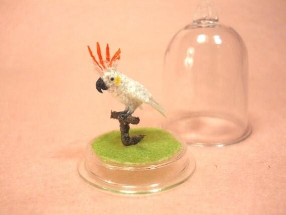 Citron Crested Cockatoo Micro Amigurumi Miniature By Suami