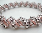 Metallic Pink Cellini Spiral Bangle