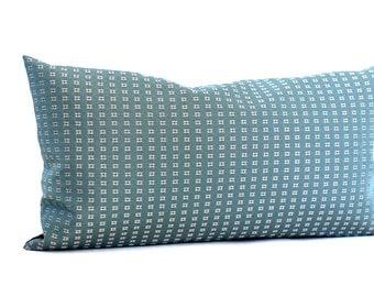 Lumbar Pillow Cover Blue Grey Pillow Stripe Upholstery Fabric Oblong Decorative Pillow Throw Pillow Cover 12x24 12x21 12x18 12x16 10x20