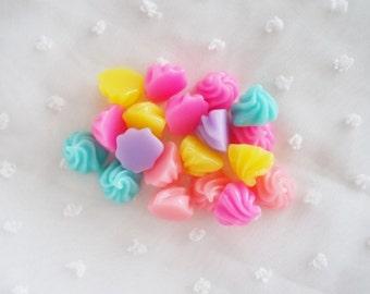 PREORDER - 10pcs - Pastel Candy  Mix Decoden Cabochon (15mm) CW10003