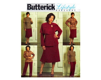 Jacket capelet collar Skirt Pants Lifestyle Wardrobe OOP UNCUT Sewing Pattern Plus Sizes 16 18 20 22 24 Bust 38 40 42 44 46 Butterick 4878