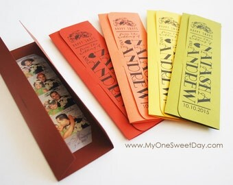 Fall Wedding Photo booth party favors Photo booth picture holders