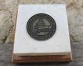 1995 United States Capitol Steps Original Marble & Brass/Bronze Token Paperweight Souvenir