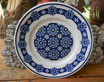 Vintage Kingstone By Nikko Made in Japan Small Dessert Plate Blue and White Flowered Pattern Decorative Display 1960s to 1980s