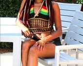 2015 Bob Marley Inspired Corset Back Halter Top ---Available Now---  S/M