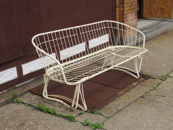 Vintage homecrest metal glider patio or by vintagefurnitureme for Homecrest patio furniture
