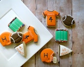 Football Cookies - 24 - 2 Dozen
