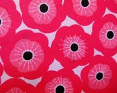 PINK FLOWERS * Flower Garden * Pink * Poppy * New Fabric Flowers * Mod * Folk * Red * Flower Power